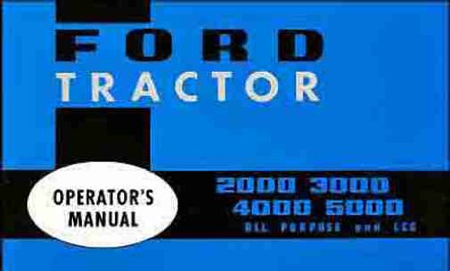 tractor owners manual